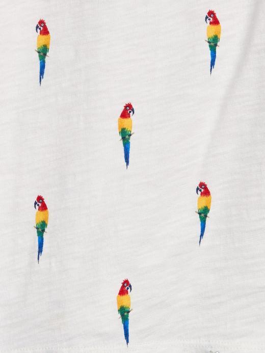 Erkek Bebek Turuncu Grafik Desenli Polo Yaka T-Shirt