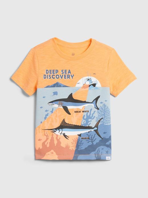 Erkek Bebek Turuncu Cepli Kısa Kollu T-Shirt
