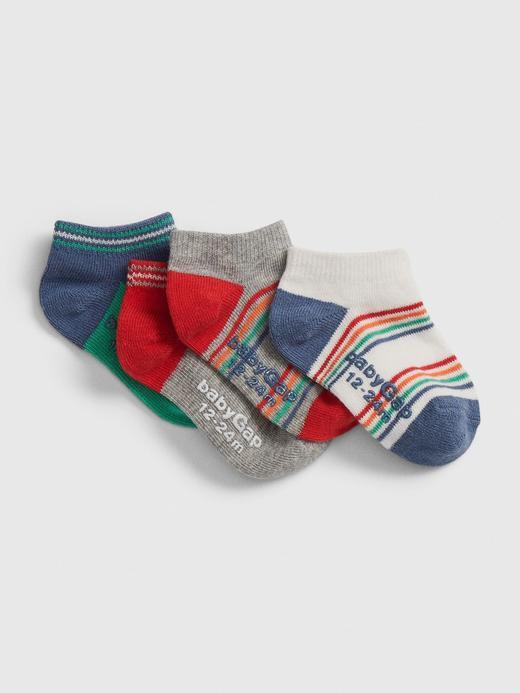 Bebek Çok renkli 4'lü Gökkuşağı Desenli Çorap Seti
