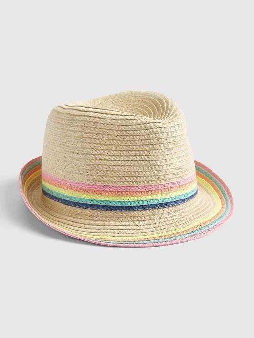 Bebek Bej Hasır Şapka