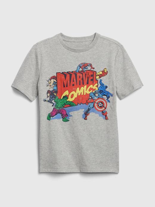 Erkek Çocuk Gri Marvel© Grafik Kısa Kollu T-Shirt