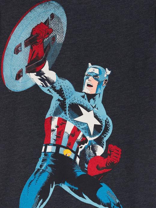 Erkek Çocuk Lacivert Marvel© Grafik Kısa Kollu T-Shirt