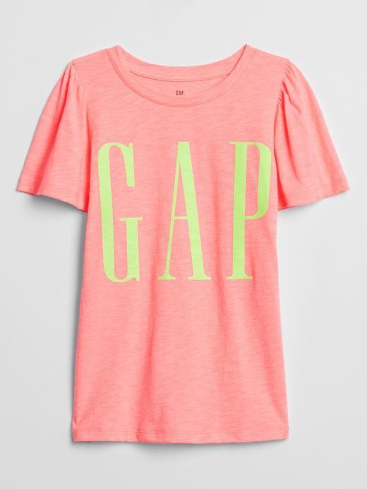 Kız Çocuk Pembe Gap Logo Kısa Kollu T-Shirt