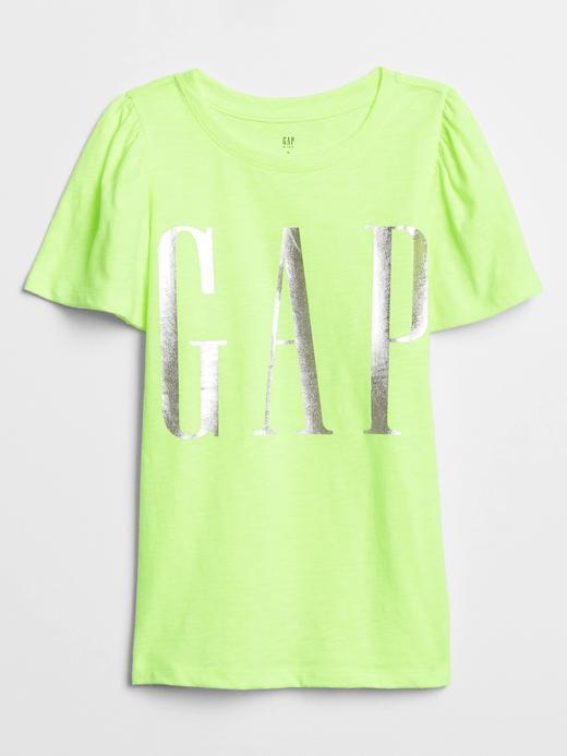 Kız Çocuk Sarı Gap Logo Kısa Kollu T-Shirt