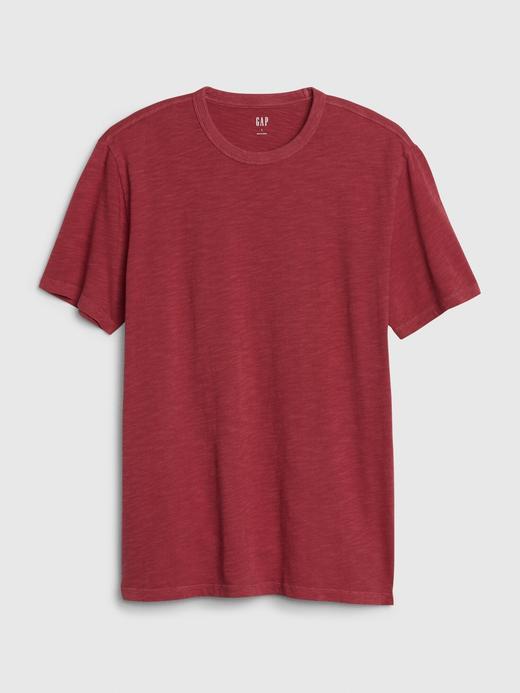 Erkek Kırmızı Yuvarlak Yaka T-Shirt