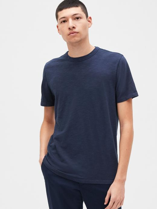 Erkek Lacivert Yuvarlak Yaka T-Shirt