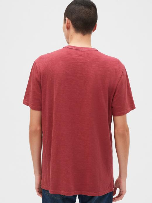 Erkek Kahverengi Yuvarlak Yaka T-Shirt