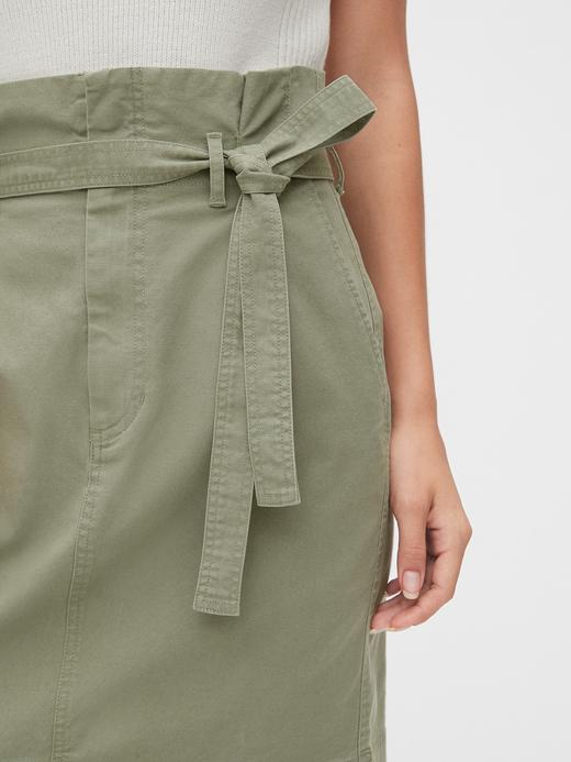 Kadın Pembe TENCEL™ Paperbag Mini Etek