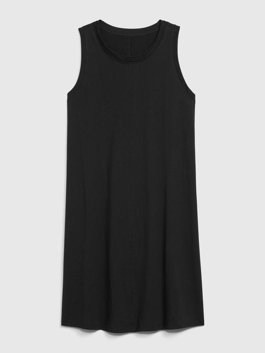 Kadın Siyah Kolsuz Swing Elbise