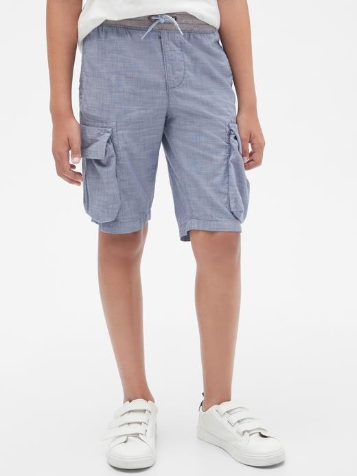 Erkek Çocuk Mavi Cargo Pull-On Şort