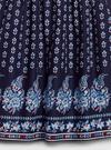 Kız Çocuk Lacivert Paisle Desenli Elbise