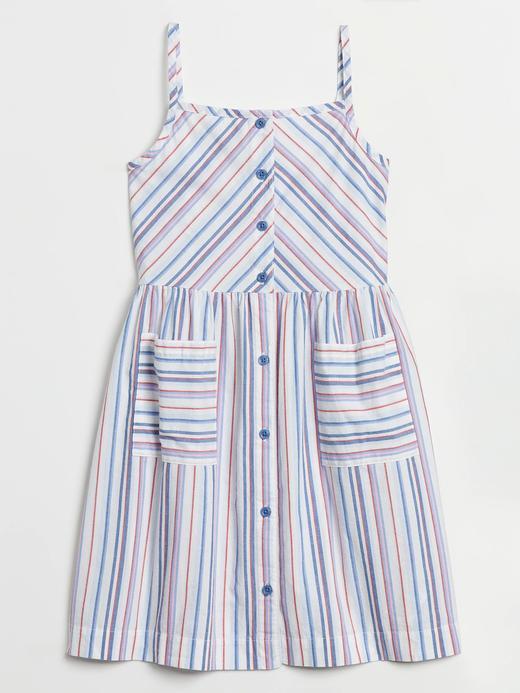 Kız Çocuk Mavi Desenli Elbise