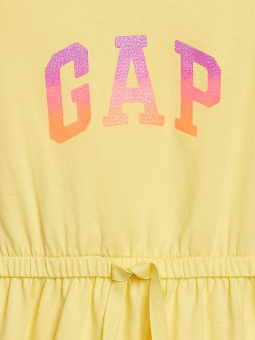Kız Bebek Sarı Gap Logo Kolsuz Elbise