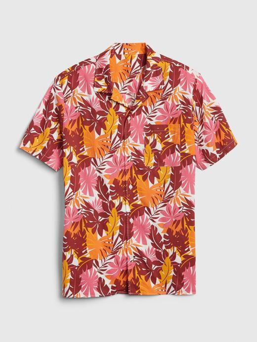 Erkek Pembe Kısa Kollu Poplin Gömlek