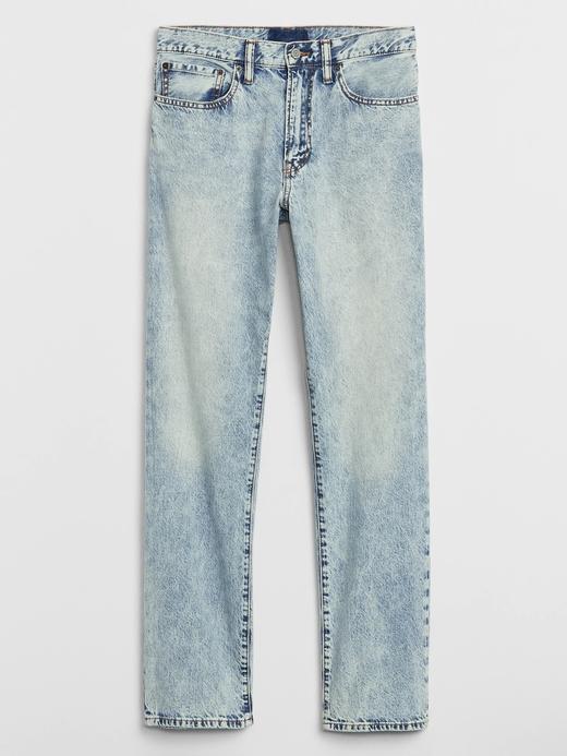 Erkek Mavi Straight Fit Jean Pantolon