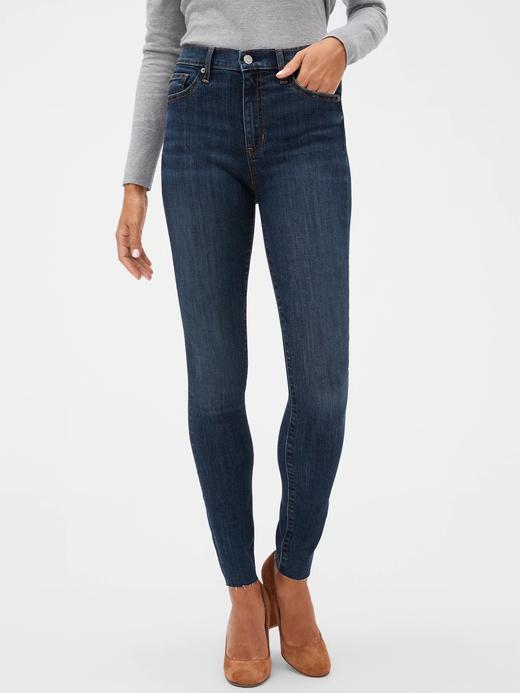 Kadın Lacivert High Rise Legging Jean Pantolon