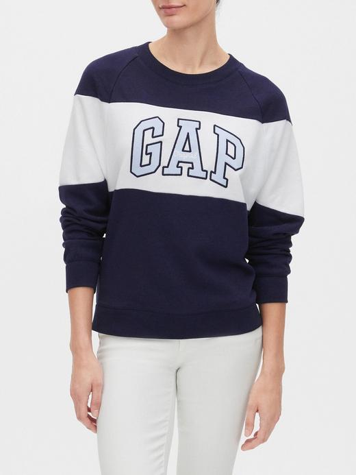 Kadın Lacivert Gap Logo Yuvarlak Yaka Sweatshirt