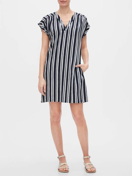 Kadın Lacivert V Yaka Elbise