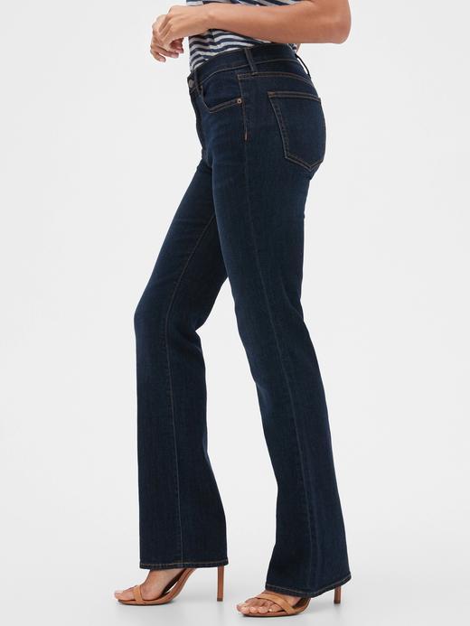 Kadın Lacivert Mid Rise Bootcut Jean Pantolon