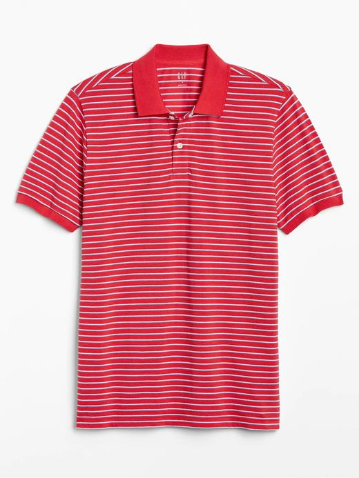 Erkek Kırmızı Pique Kısa Kollu Polo T-Shirt