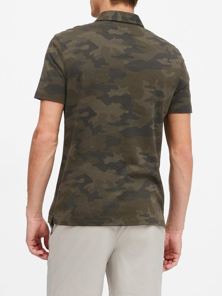 Erkek Yeşil Luxury-Touch Polo Yaka T-Shirt