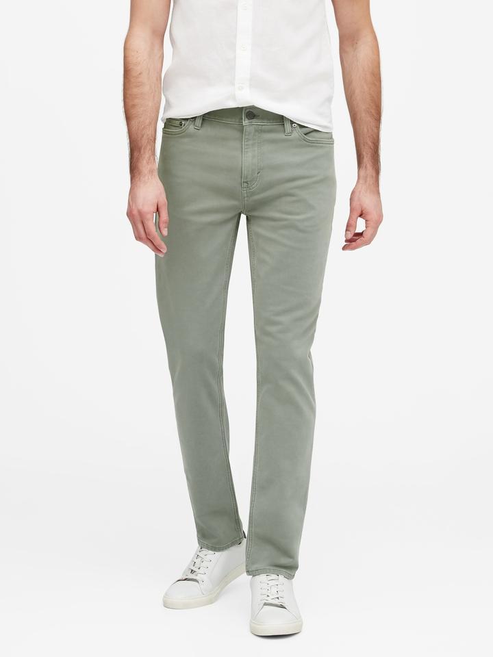 Erkek Yeşil Slim Traveler Pantolon