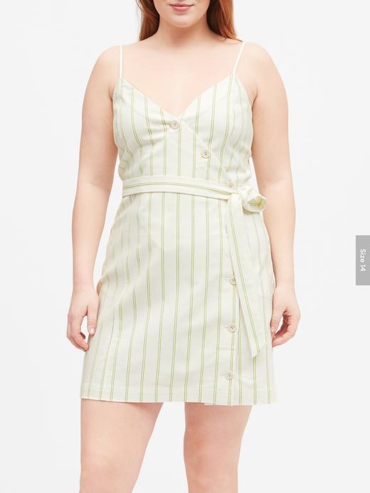 Kadın Yeşil Önden Düğmeli Mini Elbise