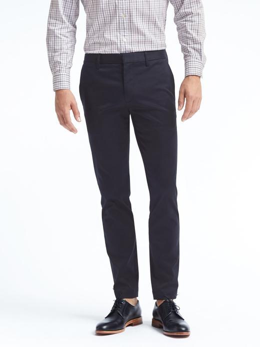 Erkek Lacivert Fulton Skinny Chino Pantolon