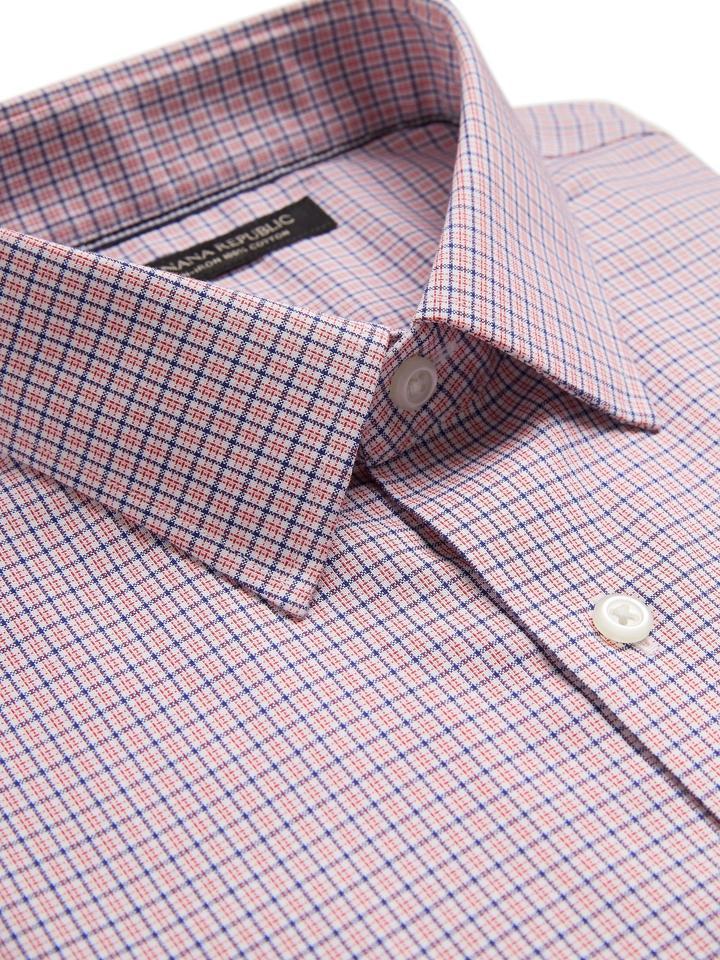 Erkek Pembe Standard-Fit Ütü Gerektirmeyen Gömlek
