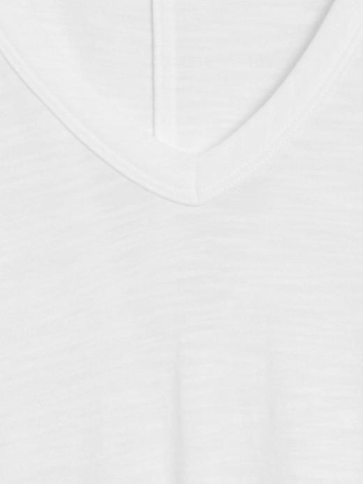 Kadın Turuncu Kısa Kollu V Yaka T-Shirt