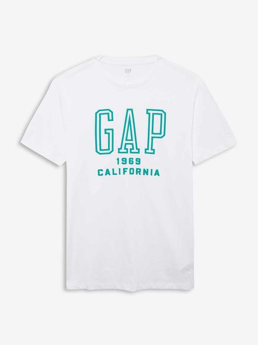Erkek Beyaz Gap Logo Kısa Kollu T-Shirt