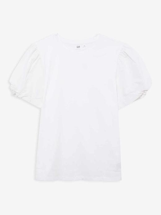 Kadın Beyaz Balon Kollu T-Shirt