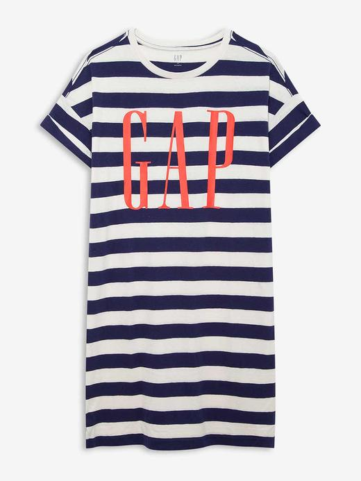 Kadın Lacivert Gap Logo Kısa Kollu Elbise