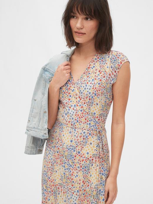 Kadın Çok renkli Anvelop Midi Elbise