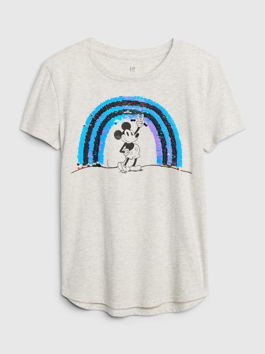 Kız Çocuk Gri Pullu Grafik Kısa Kollu T-Shirt