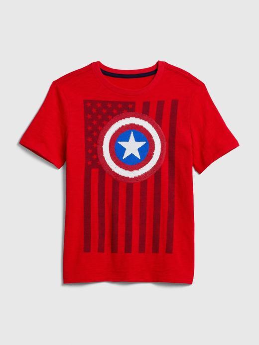 Erkek Çocuk Yeşil Marvel© Pullu Kısa Kollu T-Shirt