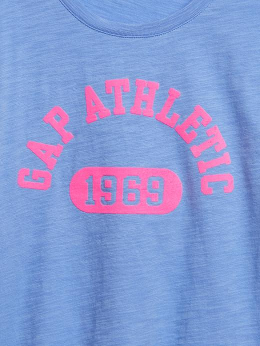 Kız Çocuk Yeşil Gap Logo Kısa Kollu T-Shirt