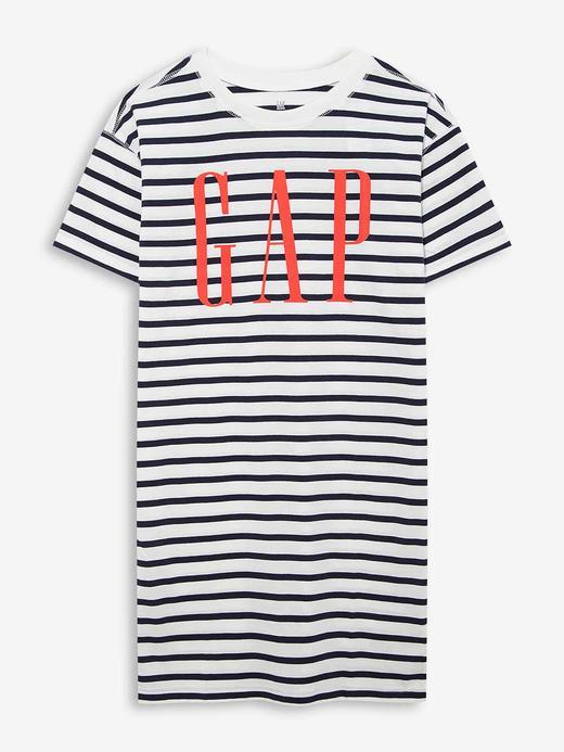 Kız Çocuk Beyaz Gap Logo Kısa Kollu T-Shirt