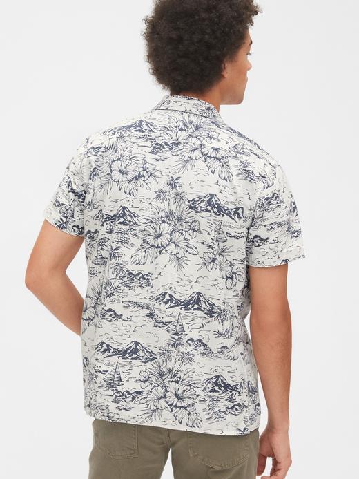 Erkek Mavi Kısa Kollu Denim Gömlek