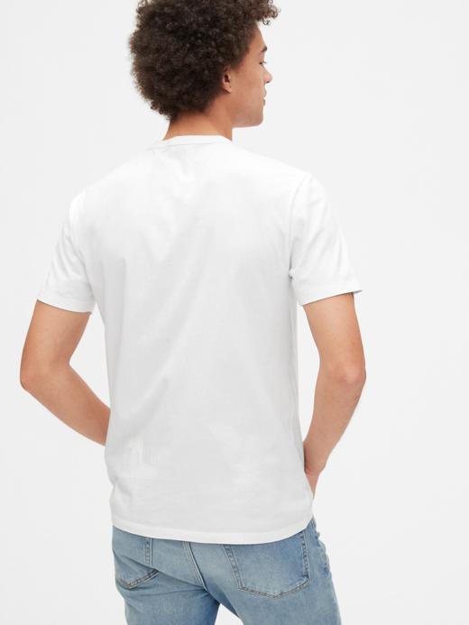 Erkek Yeşil Gap Logo Kısa Kollu T-Shirt