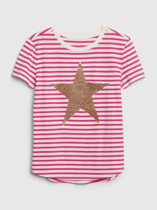 Kız Çocuk Mor Grafik Pullu T-Shirt