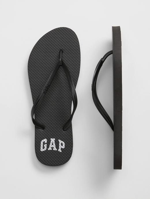 Kadın Siyah Gap Logo Parmak Arası Terlik