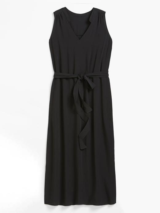 Kadın Siyah V Yaka Maxi Elbise