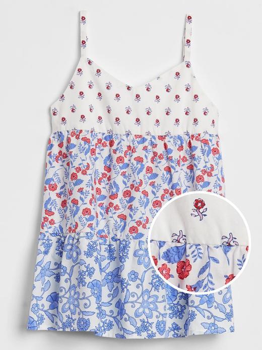 Kız Çocuk Mavi Desenli Bluz