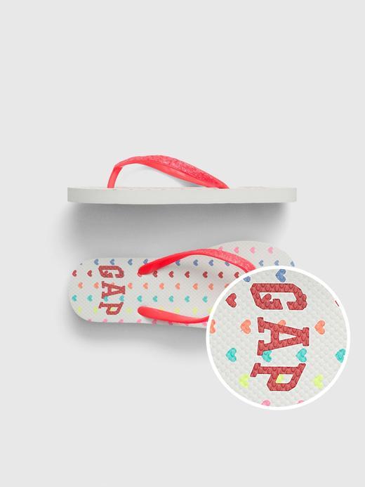 Kız Çocuk Beyaz Gap Logo Parmak Arası Terlik