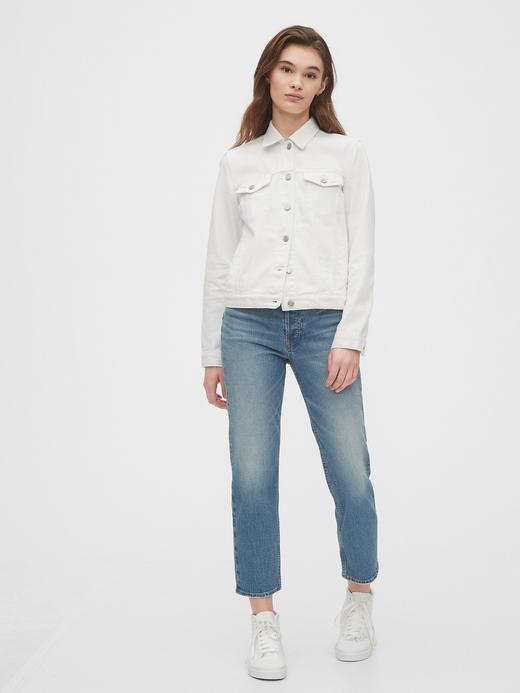 Kadın Beyaz Icon Denim Ceket