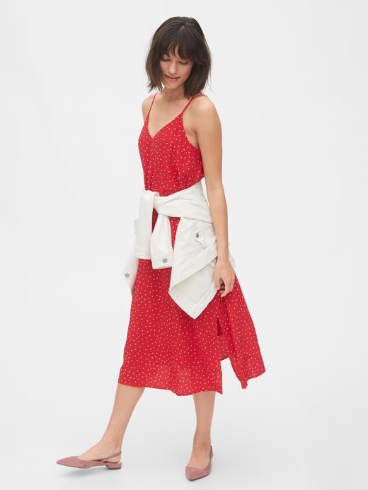 Kadın Kırmızı Askılı Elbise