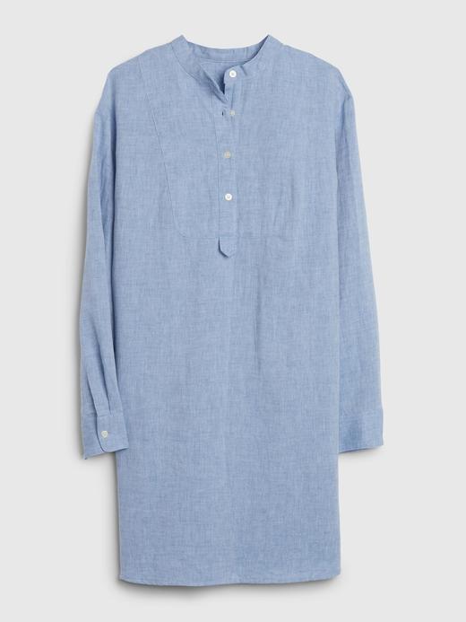 Kadın Mavi Uzun Kollu Gömlek Elbise
