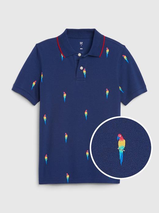Erkek Çocuk Lacivert Polo Yaka Kısa Kollu T-Shirt