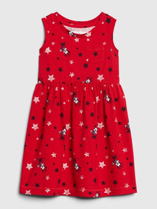 Kız Bebek Kırmızı Disney Minnie Mouse Elbise